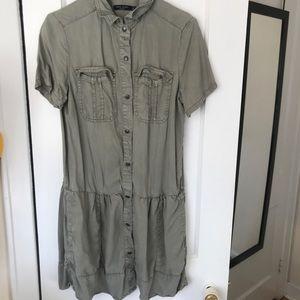 Max Jeans Snap Chambray Dress